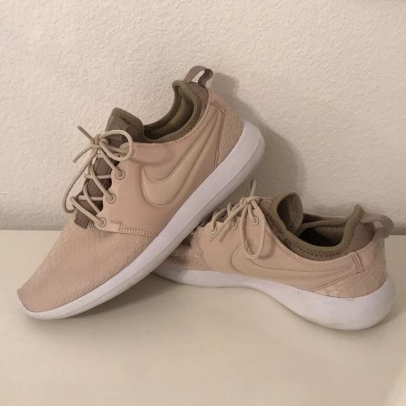 Nike Shoes | Beige Snakeskin Nike Roshe